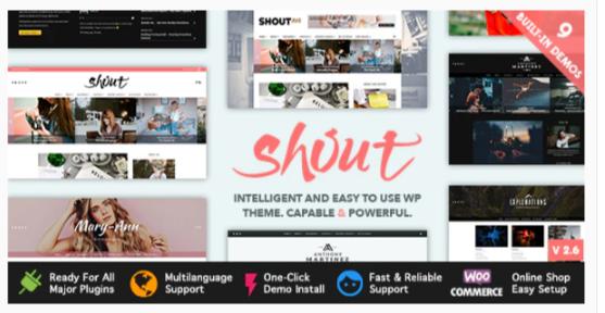 Download Shout – Blogging WordPress Theme Nulled