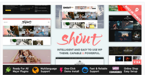 Download Shout – Blogging WordPress Theme Nulled