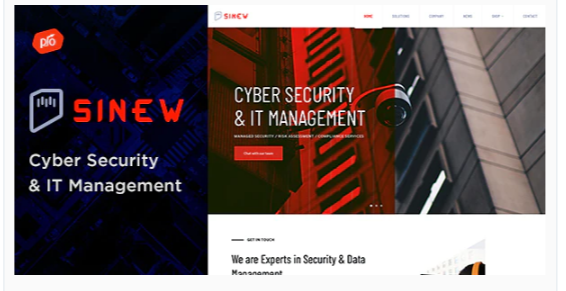 Download Sinew – Cyber Security & IT Management Theme Nulled