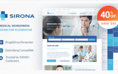 You are downloading Sirona - Health and Medical Clinic Nulled whose current version has been getting more updates nowadays, so, please keep visiting