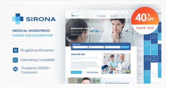 Download Sirona – Health and Medical Clinic Nulled
