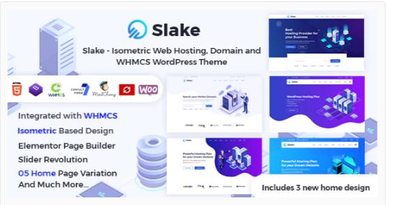Download Slake – Isometric Web Hosting, Domain and WHMCS WordPress Theme Nulled