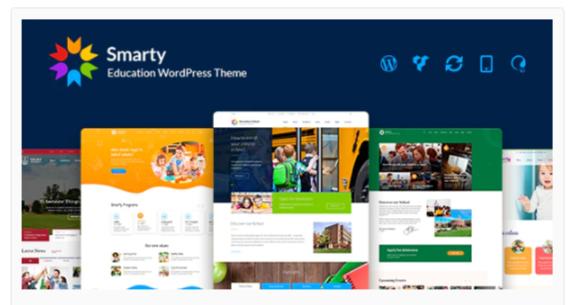 Download Smarty – School Kindergarten WordPress theme Nulled