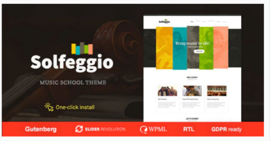 Download Solfeggio – Music School Theme Nulled