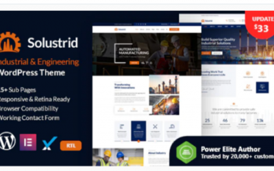 You are downloading Solustrid - Factory & Industrial Business WordPress Theme Nulled whose current version has been getting more updates nowadays,