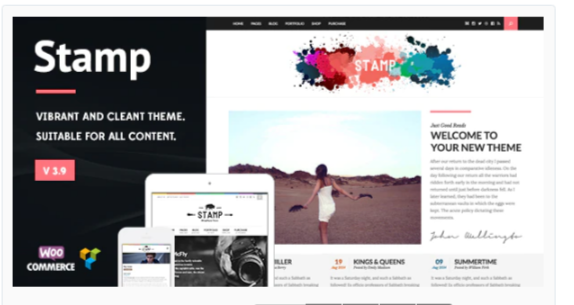 Download Stamp – Vibrant WordPress Theme Nulled