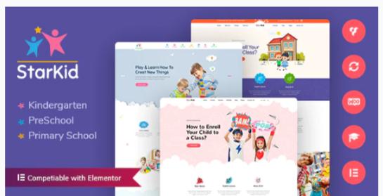 Download StarKid   Kindergarten WordPress Theme Nulled