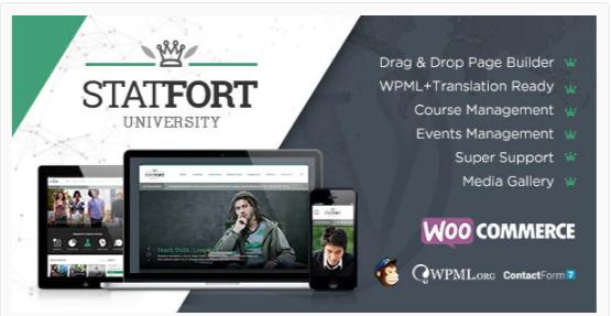 Download Statfort – Educational WordPress Theme Nulled