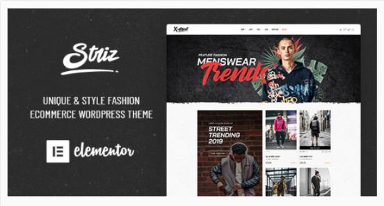Download Striz – Fashion Ecommerce WordPress Theme Nulled