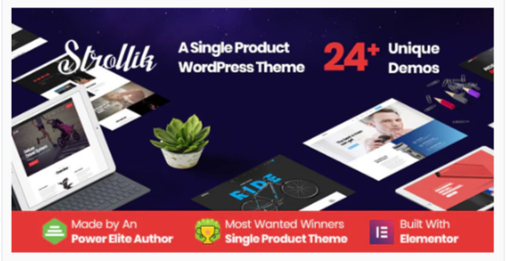 Download Strollik – Single Product WooCommerce WordPress Theme Nulled