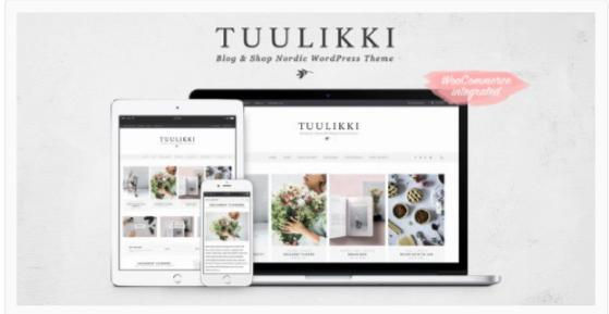 Download TUULIKKI Nordic Blog & Shop WordPress Theme Nulled