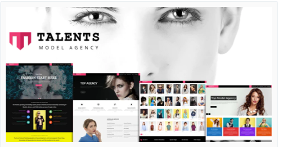 Download Talents – Model Agency WordPress CMS Theme Nulled