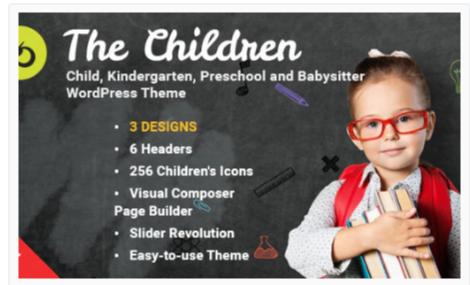 Download The Children – Kindergarten and Babysitter WordPress Theme Nulled