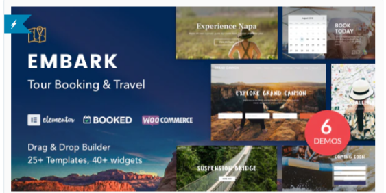 Download Tour Booking & Travel WordPress Theme – Embark Nulled