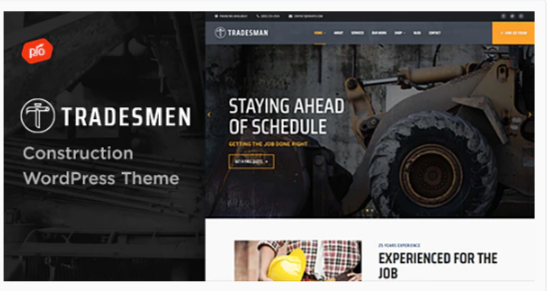 Download Tradesmen – Construction WordPress Theme Nulled