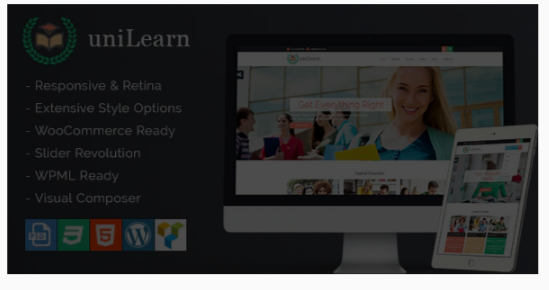Download UniLearn – Education and Courses WordPress Theme Nulled
