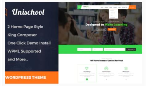 Download Unischool- Education WordPress Theme Nulled