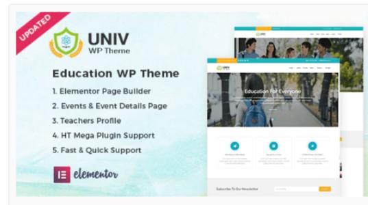 Download Univ – Education WordPress Theme Nulled