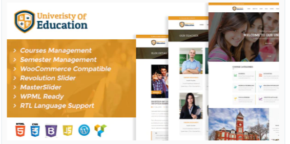 Download University of Education WordPress Theme – Courses Management WP Nulled