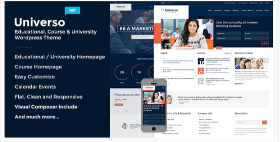 Download Universo – Powerful Education, Courses & Events Nulled