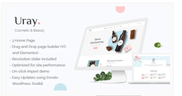 Download Uray – Cosmetic & Beauty Shop WordPress WooCommerce Theme Nulled