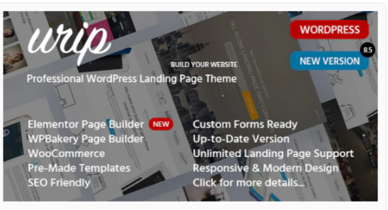 Download Urip – Marketing Landing Page Nulled