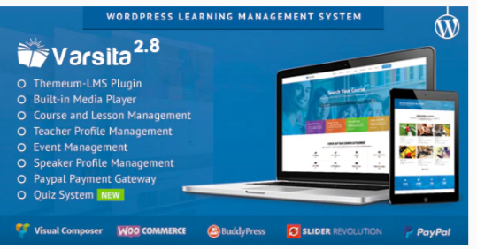 Download Varsita – Online Course Platform Theme with Built-in Learning Management System Nulled