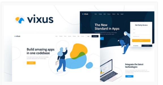 Download Vixus | Startup & Mobile App WordPress Landing Page Theme Nulled