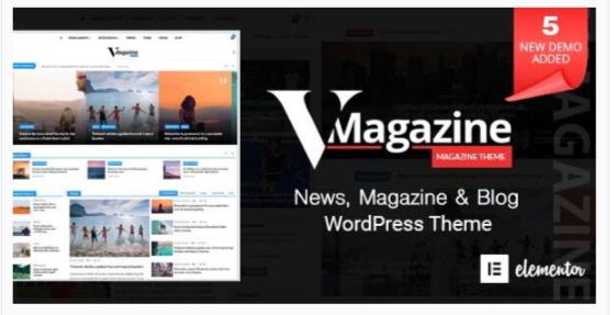 Download Vmagazine – Blog, NewsPaper, Magazine WordPress Themes Nulled