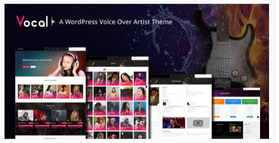 Download Vocal – Voice Over Artists WordPress Theme Nulled