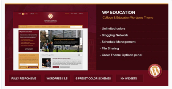 Download WP Education – Responsive, professional and powerful education theme Nulled