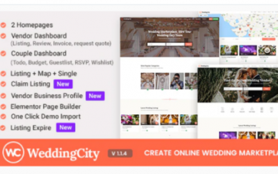 You are downloading WeddingCity - Directory & Listing WordPress Theme Nulled whose current version has been getting more updates nowadays, so, please