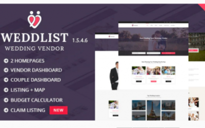 You are downloading Weddlist - Wedding Vendor Directory WordPress Theme Nulled whose current version has been getting more updates nowadays, so, please