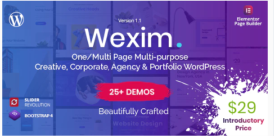 Download Wexim – Creative WordPress Theme Nulled