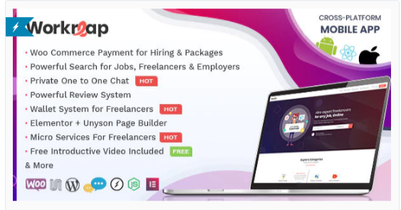 Download Workreap – Freelance Marketplace and Directory WordPress Theme Nulled