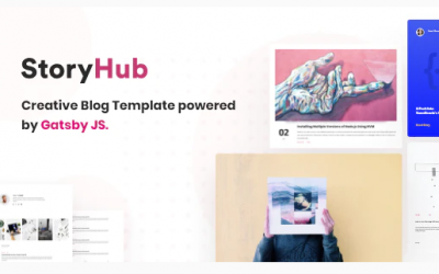 StoryHub - React Gatsby Blog Template Nulled