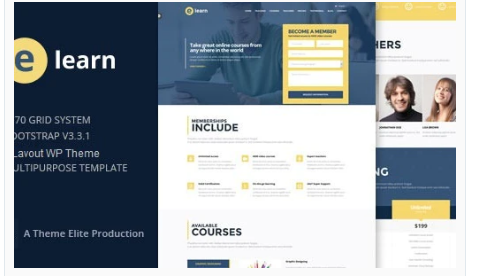 Downloade-Learn – Onepage Bootstrap Education WordPress Theme Nulled