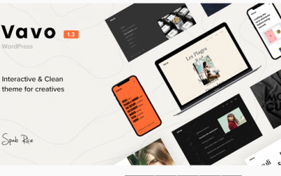 Vavo - An Interactive & Clean Theme for Creatives Nulled