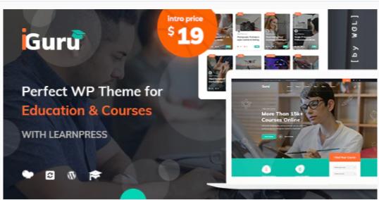Download iGuru – Education & Courses WordPress Theme Nulled