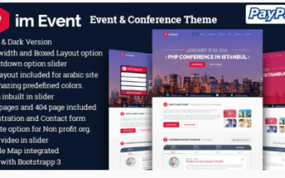 ou are downloading imEvent - Conference Meetup WordPress Theme Nulled whose current version has been getting more updates nowadays, so, please