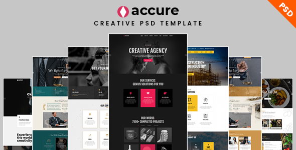 Download Accure – Creative Multi Purpose PSD Template Nulled