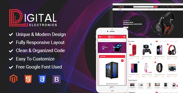 Download Digital – Responsive Magento 2 Shopping Theme Nulled