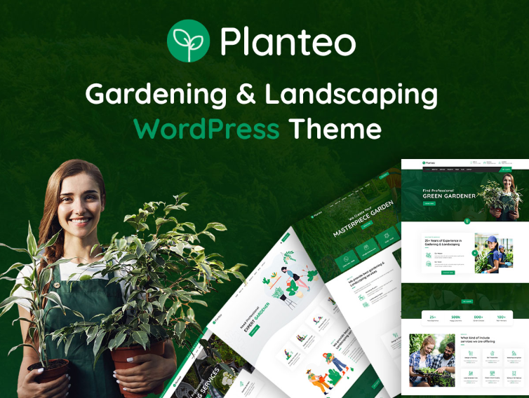 Download Planteo – Gardening and Landscaping WordPress Theme Nulled