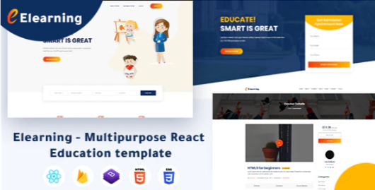 Download Elearning – Multipurpose React Education Template Nulled