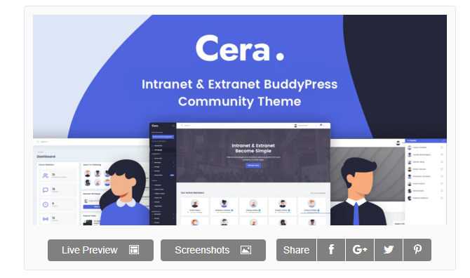 Download Cera – Intranet & Community Theme Nulled