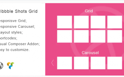 Dribbble Shots Grid - WordPress Widget Theme Nulled