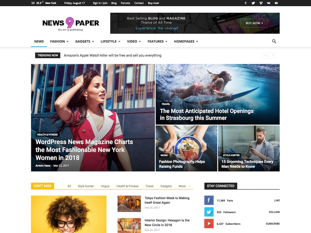 Download Newspaper WordPress Theme Nulled