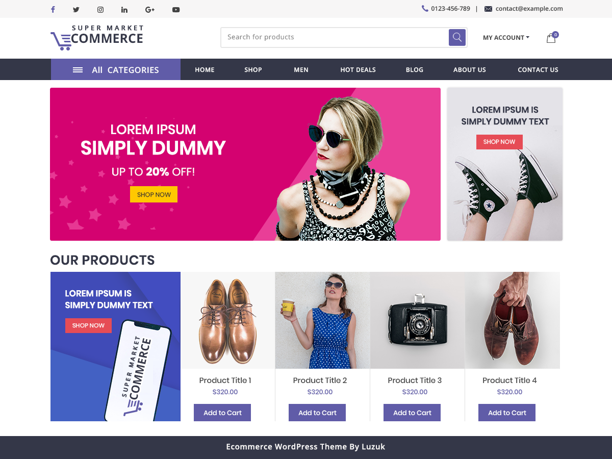 Download Ecommerce WordPress Theme Nulled