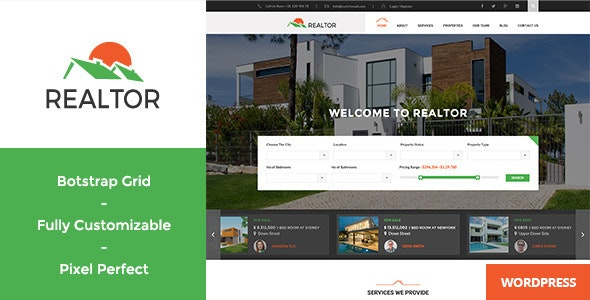 Download Realtor WordPress Theme Nulled