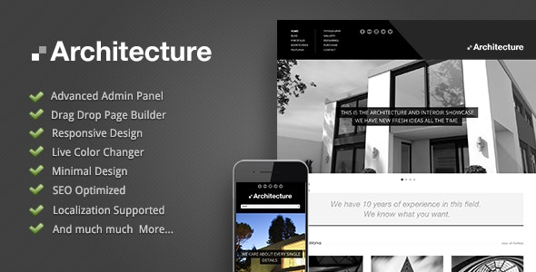 Download Architecture WordPress Theme Nulled